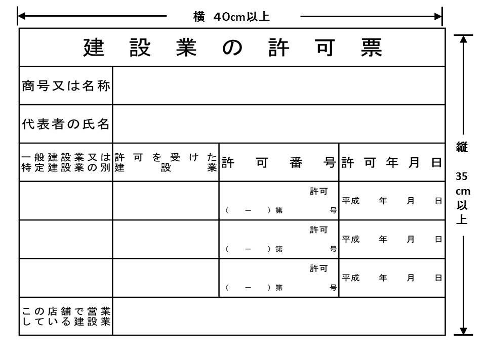 許可票(事務所)